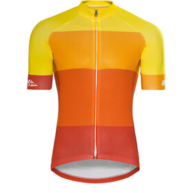 Red Cycling Products Colorblock Race Jersey Heren, red-yellow
